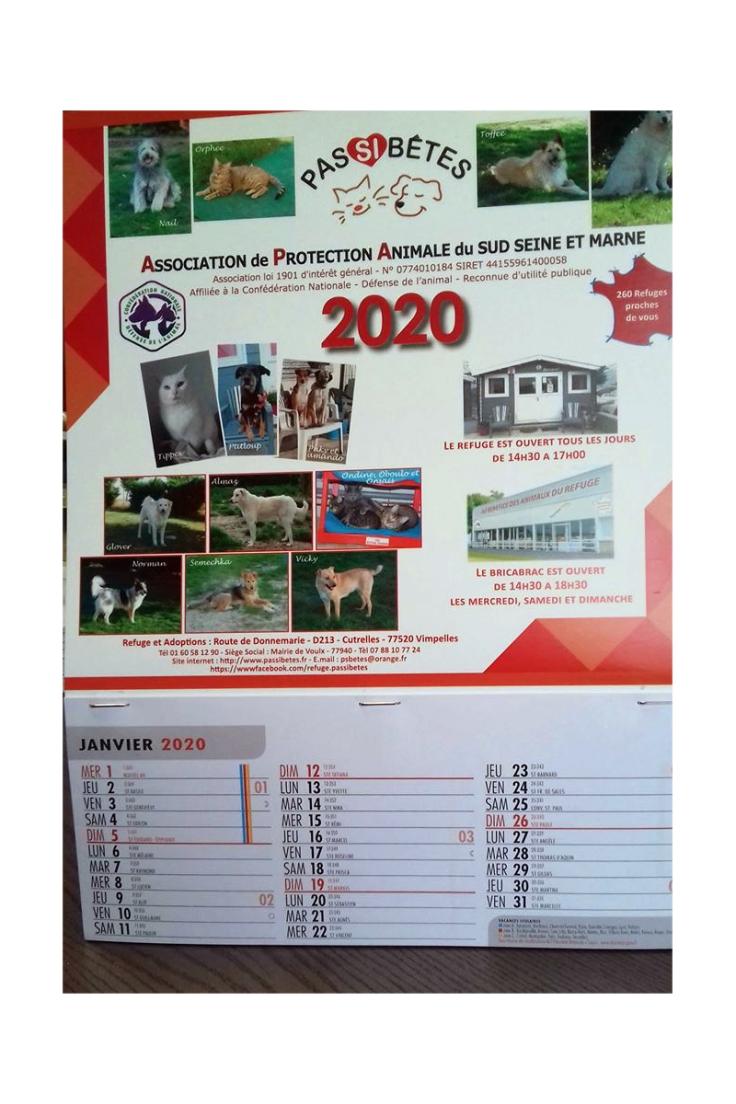 PSB Calendrier2020